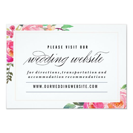 Bohemian Floral Wedding website card