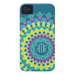 Bohemian Flower with Monograms iPhone 4 Case-Mate Cases