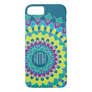 Bohemian Flower with Monograms iPhone 8/7 Case