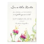 Bohemian Garden | Floral Save the Date 13 Cm X 18 Cm Invitation Card