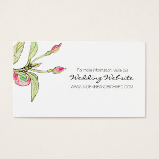 Bohemian Garden | Floral Wedding Website Cards