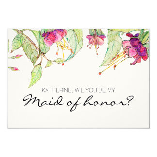 Bohemian Garden | will you be my maid of honor? Card