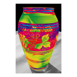 Bohemian Glass with Flower Pattern, Stylised (1) Poster