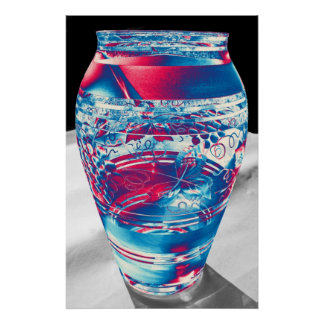 Bohemian Glass with Flower Pattern, Stylised (3) Poster