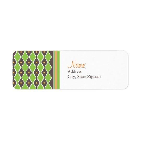 Bohemian Green Return Address Label