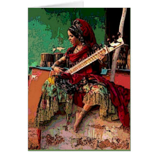 Bohemian Gypsy Greeting Card Tribal Birthday