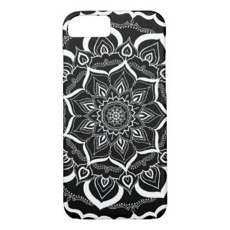 Bohemian Hand Drawn Mandala Black White iPhone 8/7 Case