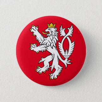 Bohemian heraldic lion 6 cm round badge