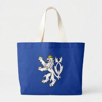 Bohemian heraldic lion large tote bag