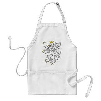 Bohemian heraldic lion standard apron
