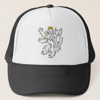 Bohemian heraldic lion trucker hat