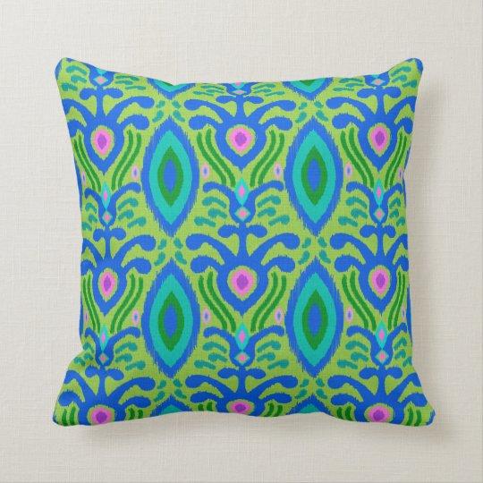 Bohemian Ikat Pillow (green)