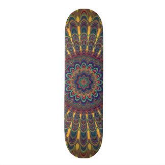 Bohemian oval mandala skateboard