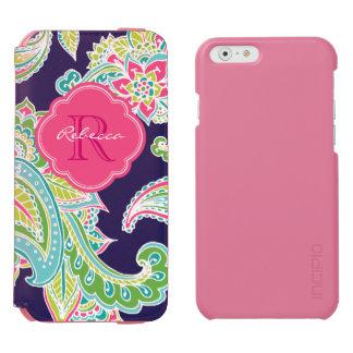 Bohemian Paisley Custom Monogram Incipio Watson™ iPhone 6 Wallet Case