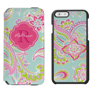 Bohemian Paisley Custom Monogram Incipio Watson™ iPhone 6 Wallet Case