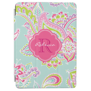 Bohemian Paisley Custom Monogram iPad Air Cover