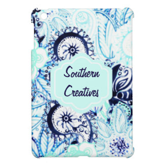 Bohemian Paisley Pattern w Full Name Monogram Cover For The iPad Mini