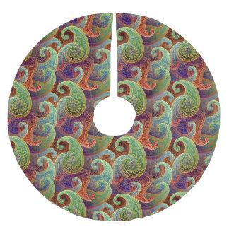 Bohemian Paisley Timeless Pattern Brushed Polyester Tree Skirt