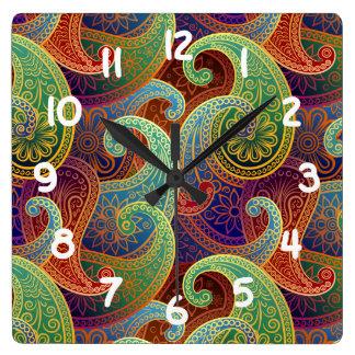 Bohemian Paisley Timeless Pattern Wall Clocks