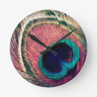 Bohemian Peacock Wall Clocks
