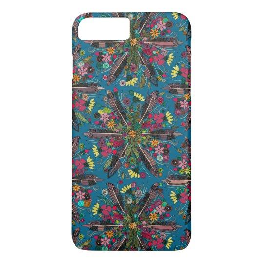 bohemian posy blue iPhone 8 plus/7 plus case