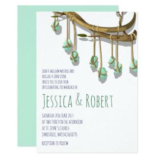 Bohemian Primitive Rustic Wedding Invitations