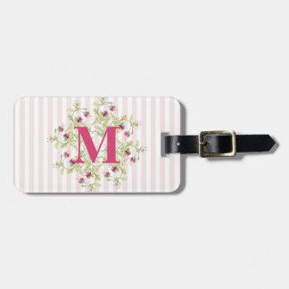 Bohemian Rose Garden | Personalised Monogram Luggage Tag
