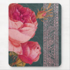 BOHEMIAN ROSE in ROSY PINK and TEAL BLUE Mouse Mat