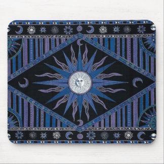 Bohemian Royal Blue Sun Mouse Pad