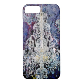Bohemian Shabby Chic purple watercolor Chandelier iPhone 8/7 Case