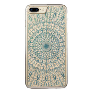 Bohemian Sky and Turquoise Blue Fractal Design Carved iPhone 8 Plus/7 Plus Case