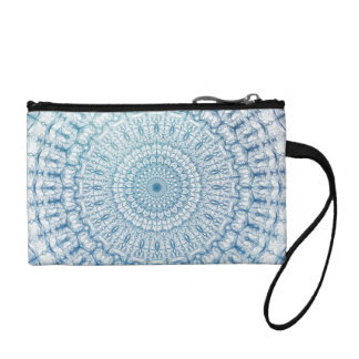 Bohemian Sky and Turquoise Blue Fractal Design Coin Purse