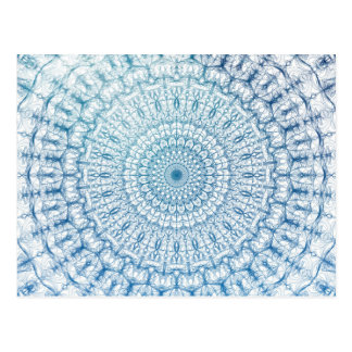 Bohemian Sky and Turquoise Blue Fractal Design Postcard