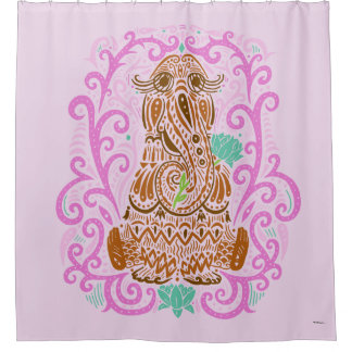Bohemian Snuffleupagus Shower Curtain