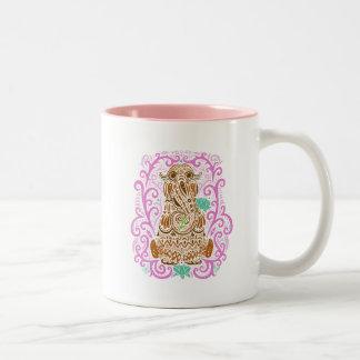 Bohemian Snuffleupagus Two-Tone Coffee Mug