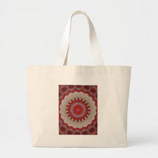 Bohemian Southwest Tribal Aztec pattern Large Tote Bag