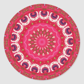 Bohemian Southwest Tribal Aztec pattern Round Sticker