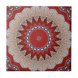 Bohemian Southwest Tribal  pattern Small Square Tile