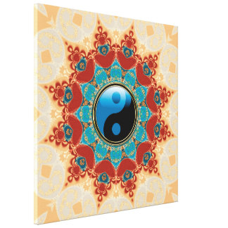 Bohemian Spirit Yin Yang Wrapped Canvas Stretched Canvas Print