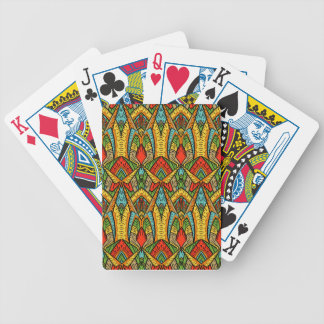 Bohemian Stained Glass Pattern Poker Deck
