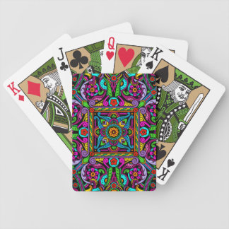 Bohemian Stained Glass Style Bicycle Playing Cards
