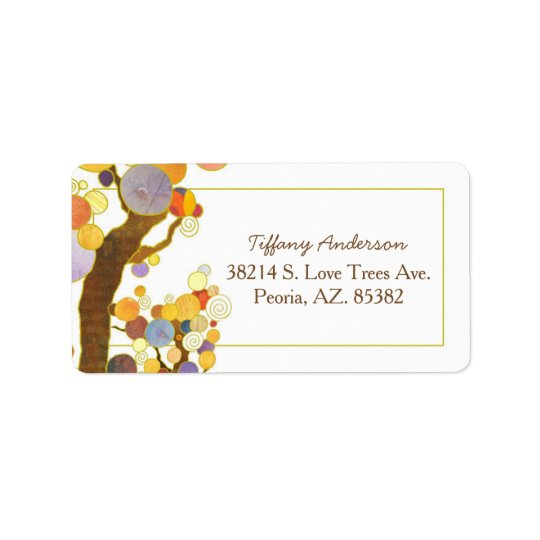 Bohemian Style Wedding Address Label