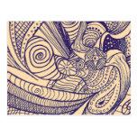 Bohemian Swirl Postcard