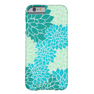 Bohemian Teal Aqua Blue Green Floral iPhone 6 Case