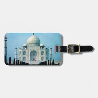 Bohemian travel India Agra Vintage Taj Mahal Luggage Tag