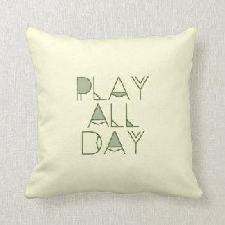 Bohemian & Tribal Play All Day Typography | Kids Throw Cushions