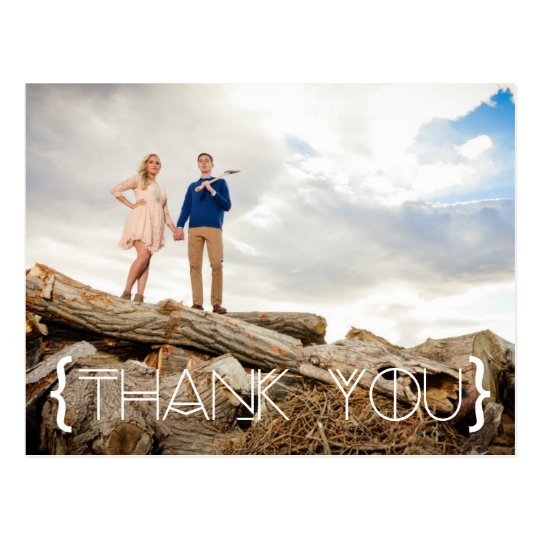 Bohemian Tribal Thank You Photo Postcard