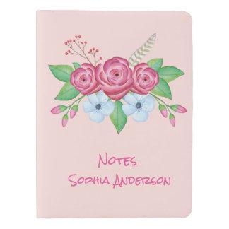 Bohemian Watercolor Flower Bouquet Customizable Extra Large Moleskine Notebook