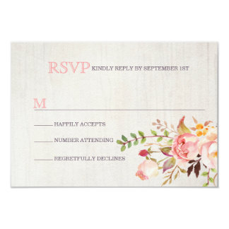 Bohemian Watercolor Wedding RSVP Cards