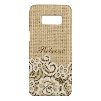 Bohemian Western country rustic burlap and lace Case-Mate Samsung Galaxy S8 Case